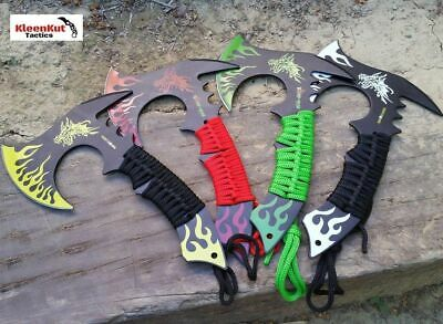 "NEW 4 Pc 11"" Combat Full Tang Tactical Throwing Knife Axe Set Hatchet Dragon"