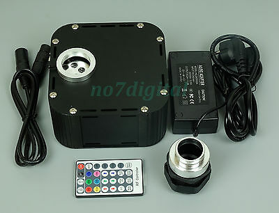 RGB Twinkle fiber optic light source led light box RF+DMX512+Platform control