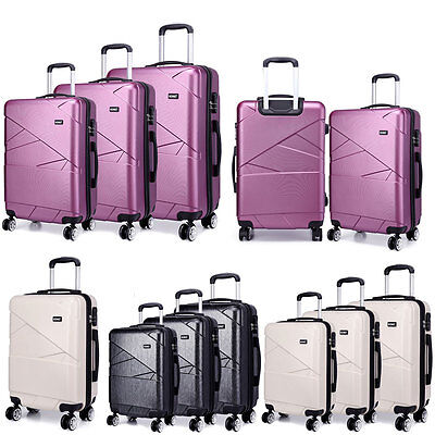 KONO Trolley Suitcase Lightweight Luggage Travel Case Hard Shell PC