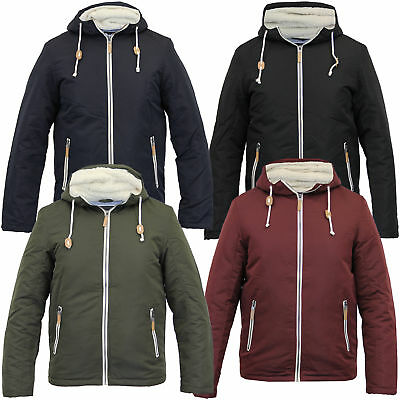 f73045ef7fb mens jacket Brave Soul coat padded sherpa fleece hooded casual lined winter  new