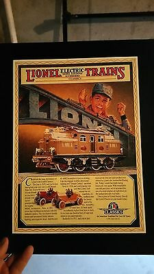 Lionel Trains Cardboard Poster from 1991.