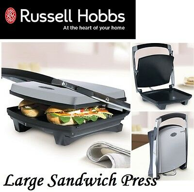 Large Sandwich Press Grill Wrap Russell Hobbs Toaster Toasted Cafe Hot Plate