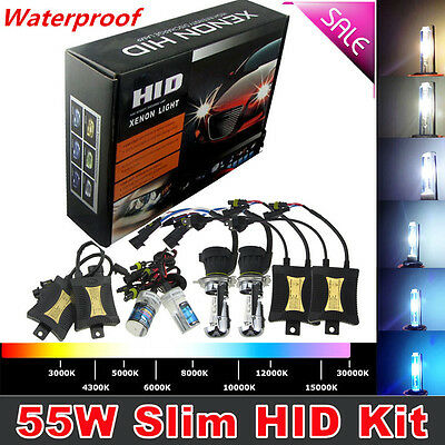 55W HID Xenon Headlight Conversion KIT Bulbs H1 H3 H4 H7 H11 9005 9006 9004/7