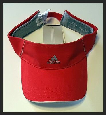 Adidas Adjustable Ladies Visor - Red - Brand New - New With Tags