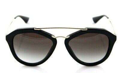 a87784f9f81 RARE Genuine PRADA Cinema Catwalk Black Gold Sunglasses PR 12QS 1AB-0A7 SPR  12Q