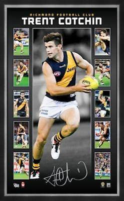 AFL Richmond Tigers FC Trent Cotchin Vertiramic - Signed and Framed