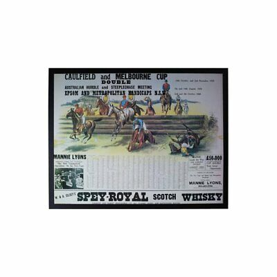 Horse Racing 1926 Caulfield and Melbourne Cup Double Framed
