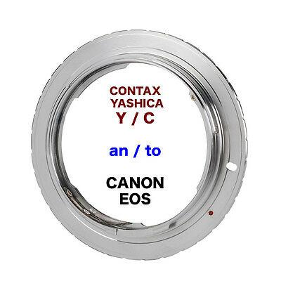 C/Y - EOS  Contax / Yashica Objektiv Lens Adapter an -To Canon EOS Kamera EF
