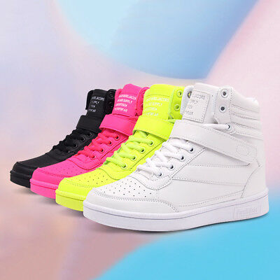 Womens Flat Platform Sneakers High Top Wedge Trainers Winter Shoes 4 5 6 7 8