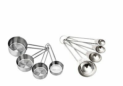 Stainless Steel Measuring Cups & Spoons Set Kitchen Tools Baking Teaspoon