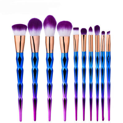 Pro 10pcs Makeup Brushes Set Powder Foundation Eyeshadow Cosmetic Brush kit EBCA