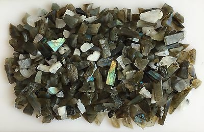 1000Ct Scoop Natural Labradorite Rainbow Moonstone Mix Sawed Raw Rough Loose Gem