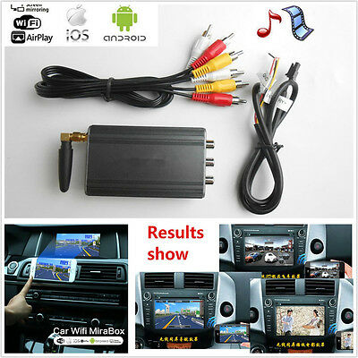 Car Miracast Airplay Android IOS WiFi Mirror Link Adapter Phone Screen Vidieo