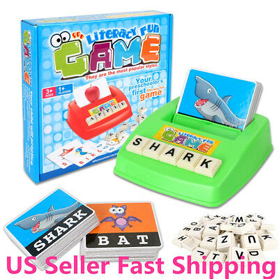 Kids English Spelling Game Alphabet Letter Learning Early Educational Toy Tool