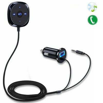 Wireless Bluetooth Stereo Audio Music Receiver Adapter Handsfree Car AUX 3.5mm