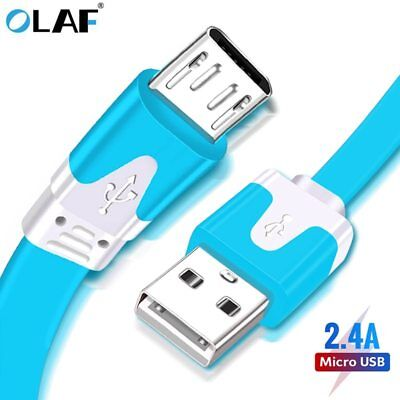1 Pcs Micro USB Flat Sync Noodles Charger Cable Cord For Android Smart Phone