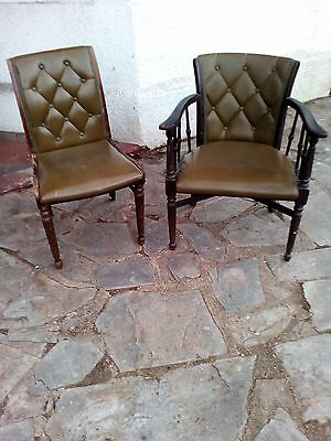 Vintage/antique reception room Sofa, 2 carver chairs, 4 chairs set & 1 Table.