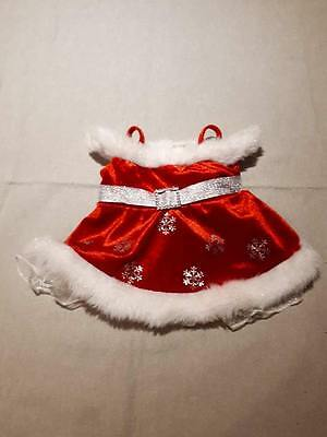 Build-A-Bear Christmas Red Dress