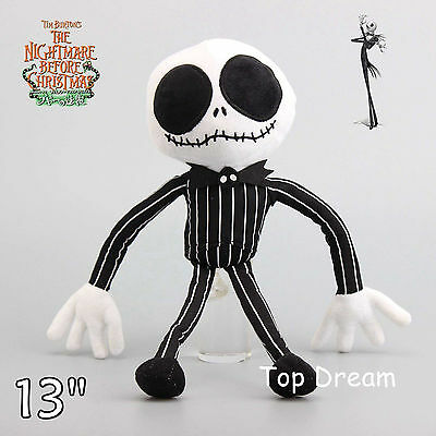 The Nightmare Before Christmas Jack Skellington Plush Toy Stuffed Doll 13'' Gift