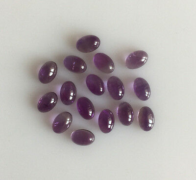 8.84 Ct 16Pc Natural Amethyst Loose Gemstones Purple Oval Cabochons Lot 6 X 4Mm