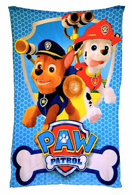 Paw Patrol 'Rescue' Boys Panel Fleece Blanket Throw Brand New Gift
