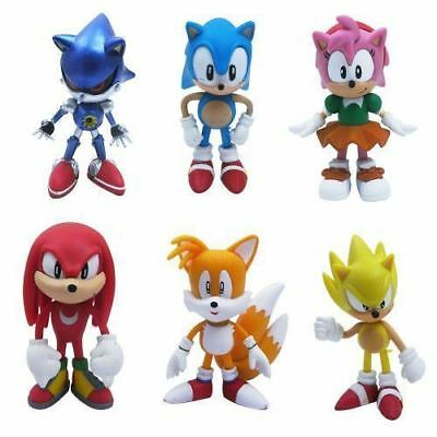 Sonic the Hedgehog Kids Toy PVC 6 pcs Action Figure Set Gift Christmas Game
