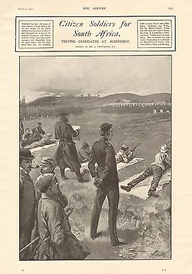 1901 Antique Print - Boer War- Citizen Soldiers For South Africa