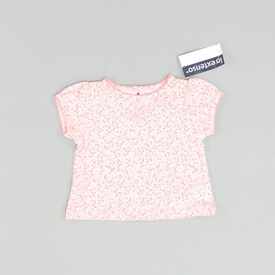 Camiseta color Rosa marca In Extenso 3 Meses