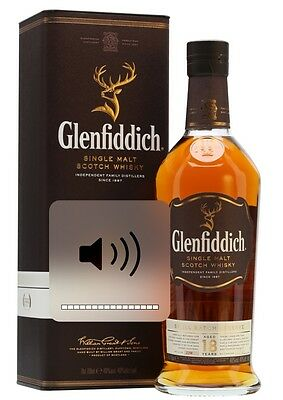 Boxed Glenfiddich 18 year old Single Malt Scotch Whisky 750ml (extra 50 mL)