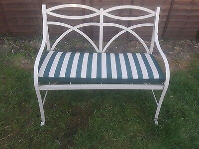 Brand New Green & Beige Striped Outdoor Decorative Comfy Bench Cushion