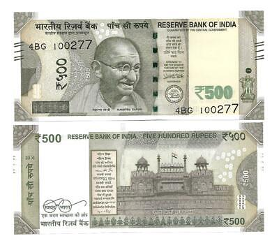Indien India 500 Rupees 2016 New Design Unc