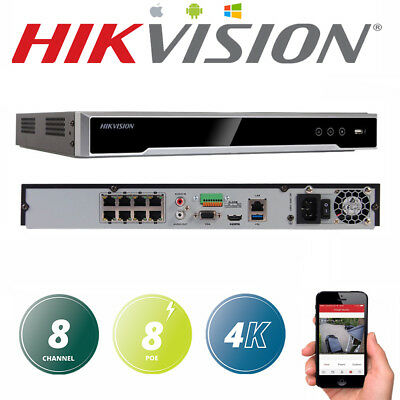 HIKVISION DS-7608NI-I2/8P Embedded Plug&Play 4K NVR 12MP 8ch 8 PoE Upgradable EN