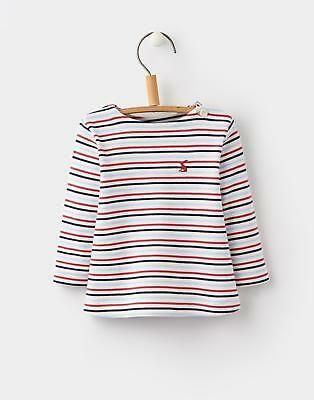 Joules 124458 Baby Boys Oscar Long Sleeve Tee with Patch Pocket in Multi Stripe
