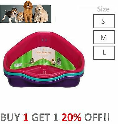 Small Animal Cat Rabbit Guinea Pig Hamster Corner Litter Trays Walter Harrisons
