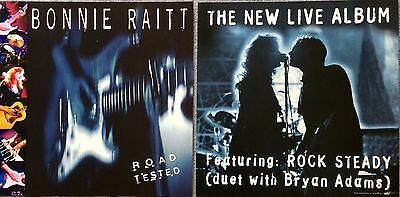 Bonnie Raitt Road Tested (feat. Bryan Adams) RARE promo 12 x 12 poster flat '95