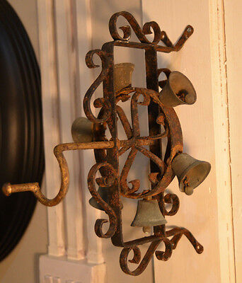 Rotating door bell,wrought iron wall mounted