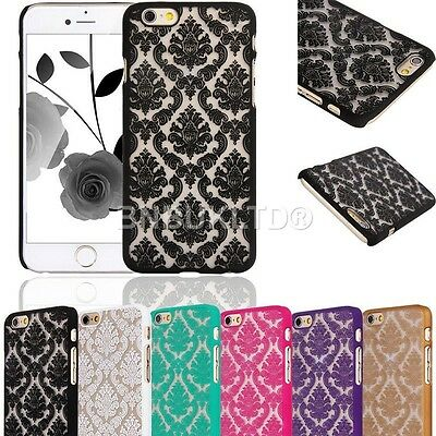 Damask Retro Rubberized Vintage Hard Back Case Cover for Various Mobiles