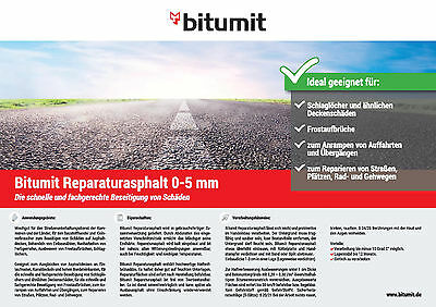 Bitumit Reparaturasphalt 0/5 mm, 25,0 kg