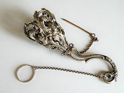 A GOOD 19th CENTURY SILVER POSEY HOLDER  TUSSIE MUSSIE
