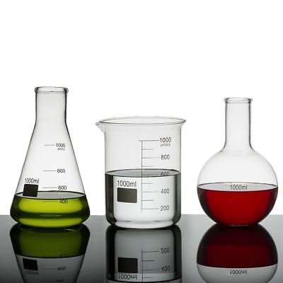 Jay 1000ml Science Lab Flasks Beaker / Erlenmeyer / Florence