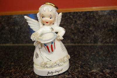 Napco Fourth of 'July' Birthday Angel with Patriotic Hat #S1367 w foil label