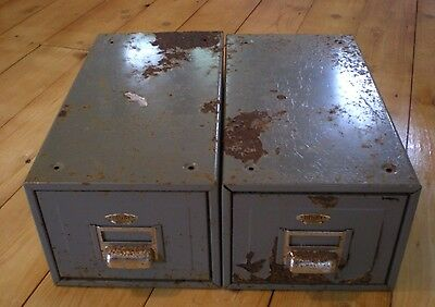 Vintage Mid Century Industrial Metal Filing Drawers - Grey Digby Filing Cabinet