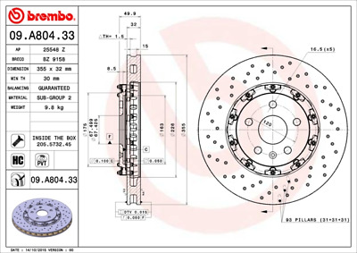 Bremsscheibe (2 Stück) TWO-PIECE FLOATING DISCS LINE - Brembo 09.A804.33