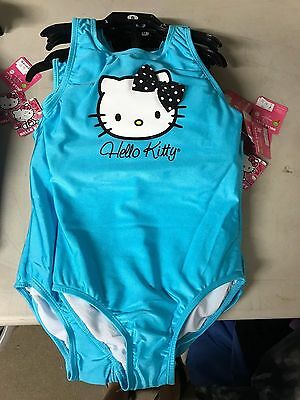 Girl's Hello Kitty One Piece Bathing Suit Blue NWT Size 8