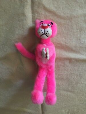 Vintage Mighty Star Pink Panther Plush Clip On Hugger