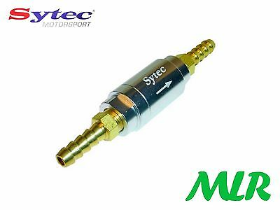 Sytec One Way Universal Fuel Valve With 6Mm Push On Tails Injection Or Carb Aza