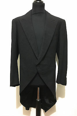 CULT VINTAGE '60 Cappotto Frac Tait Uomo Smoking Tuxedo Man Coat Sz.XL - 52