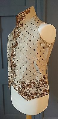 Late 18th / Early 19th Century Mens Embroidered Silk Waistcoat - Regency Antique