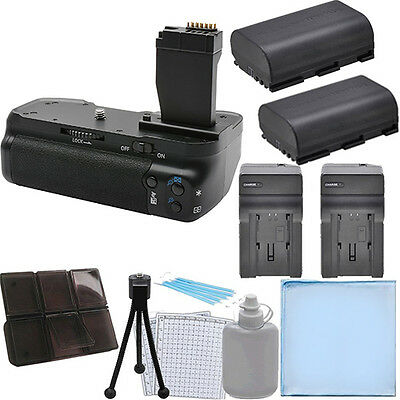 Battery Grip for Canon T6I/T6S DSLR + 2 LP-E17 Batteries + 2 Car/Home Charger