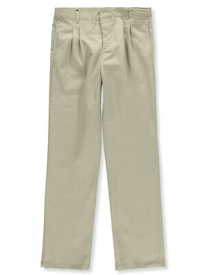 French Toast Big Boys' Pleated Wrinkle No More Double Knee Pants (Sizes 8 - 20)